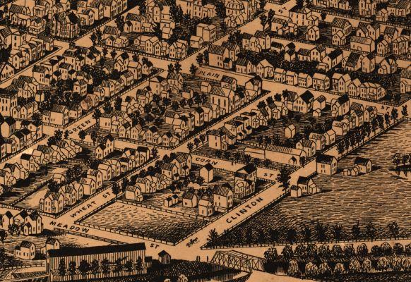 1882 Birds Eye View of Ithaca