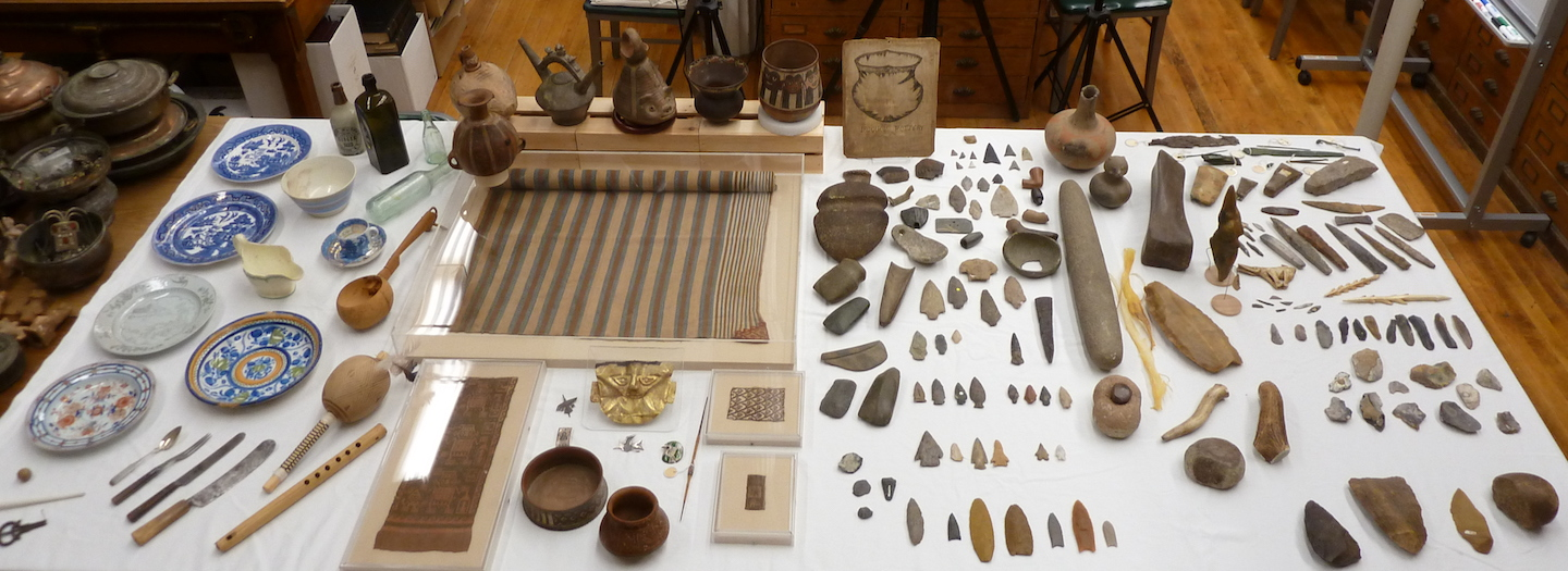 Anthropology Collections - table of artifacts