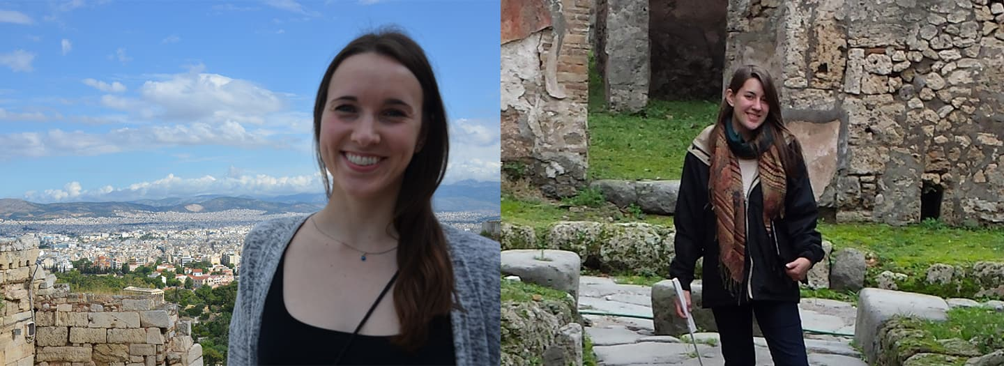 CIAMS MA Thesis Winners Jessica Plant (left) and Juliana van Roggen (right)