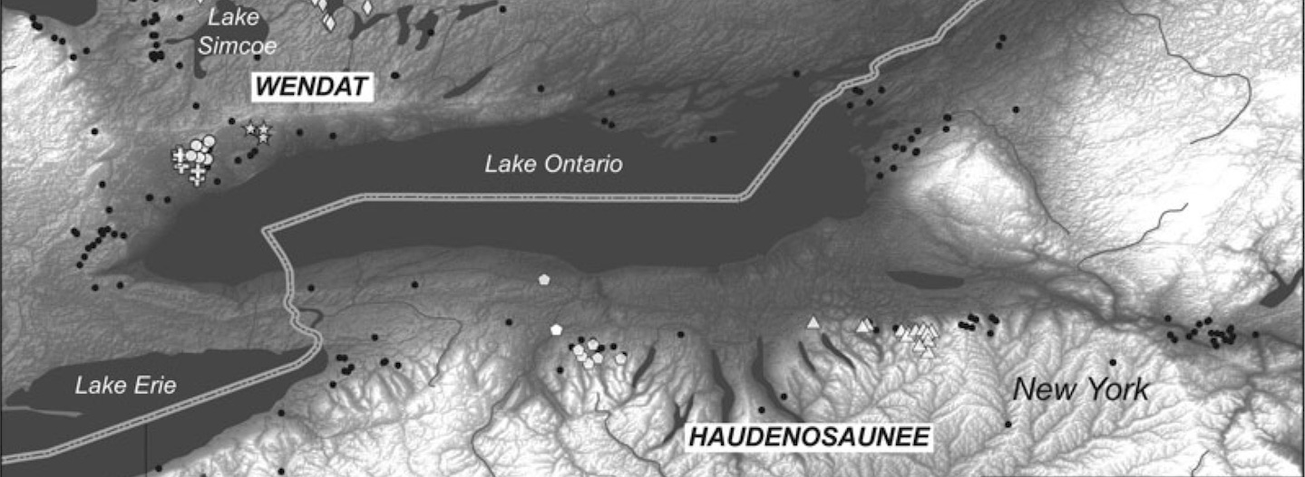 map of Iroquoian sites